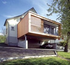 Extension en bois - extension contemporaine