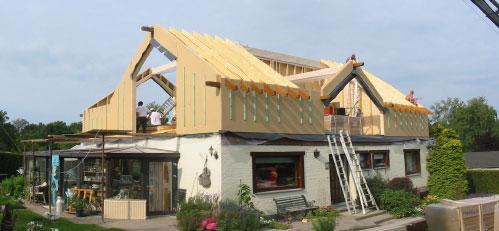 Agrandissement Maison Par Le Toit Maison Extension - Exemple d extension de maison